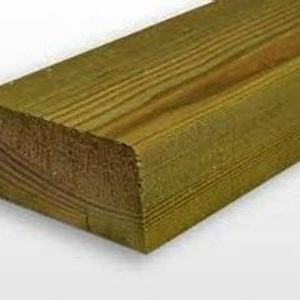 Green, Bevelled Treated Softwood Sleepers